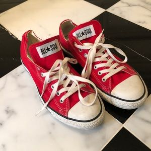 Converse Red All•Star Sneakers Size 10